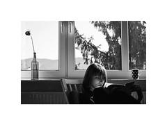 flower (Marek Pupk) Tags: central europe slovakia portrait film analog ilford xp2 canon a2 woman documentary flower rose