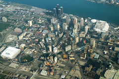 Detroit Aerial (formulanone) Tags: detroit motorcity michigan aerialphoto aerial city skyline cityskyline