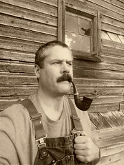 Old barn (hunter_185) Tags: pipesmoking tobacco tobaccopipe smoking barn oldbarn vintage sepia moustache