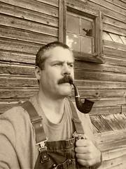 Old barn (hunter_185) Tags: pipesmoking tobacco tobaccopipe smoking barn oldbarn vintage sepia moustache
