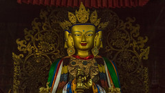 Tibet, a three face buddhist deity in the monastery (China), 06-2016, 53 (Vlad Meytin, vladsm.com) (Vlad Meytin | Instagram: vmwelt) Tags: chengguan china khimporiumco meytin tibet tibetan vladmeytin art artgallery artists artphoto artworld asia buddhism buddhiststatue carlzeiss chinese deity fe5518 gallery highaltitude local monastery photography photographyart pictures religion religious sony sonya7 sonyalpha statue symbols temple traditional vladsm vladsmcom vmwelt yellow zeiss