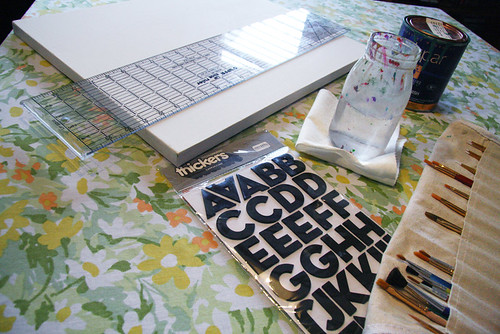 DIY Typeography Art Supplies