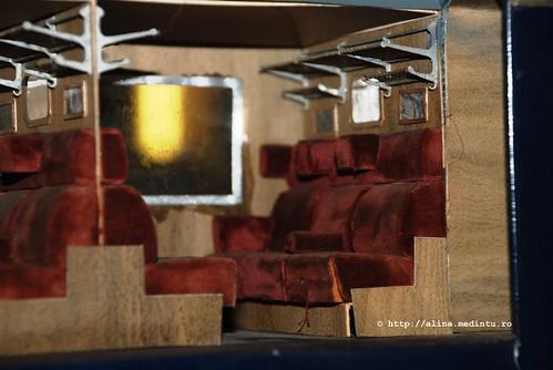 interiorul unui vagon de clasa I