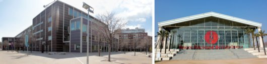 5_Views of L'Auditori (left) and the National Theatre of Catalunya (right)