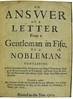 Title page of An answer of a letter from a gentleman in Fife