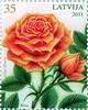 """Sērijas """"Ziedi"""" jaunākā pastmarka - """"Roze"""""""