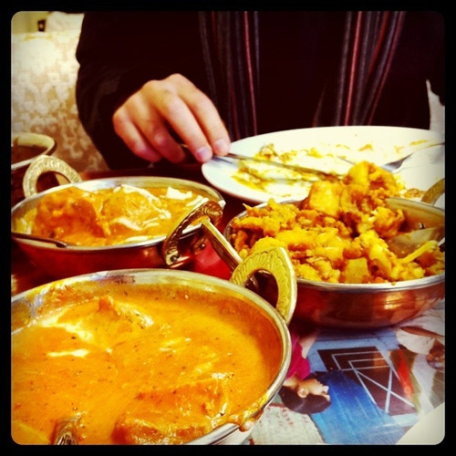 eating at Da India Curry House