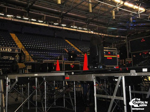 justin bieber laughing on stage. Stage set up for Justin Bieber