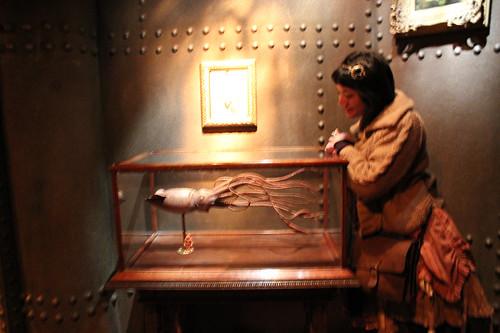 Sue-Lyn at the kraken display