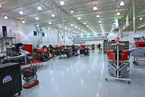 HARF tours Andretti Autosport's shop