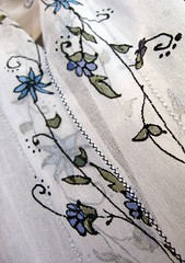 KavitaKriti - hand painted silk scarf, flower mosaic vine motif (KavitaKriti.etsy.com) Tags: elephant belt women indian peacock mandala ombre handpainted accessories blockprint silkscarf bandana henna ethnic gypsy sophisticated bohemian headband indianembroidery headpiece bohochic silkscarves neckscarf longscarf handpaintedsilkscarves kalamkari chikankari indiantextile indianmotif kutchembroidery traditionalindian kavitakriti makeyourownscarf giftpackaged