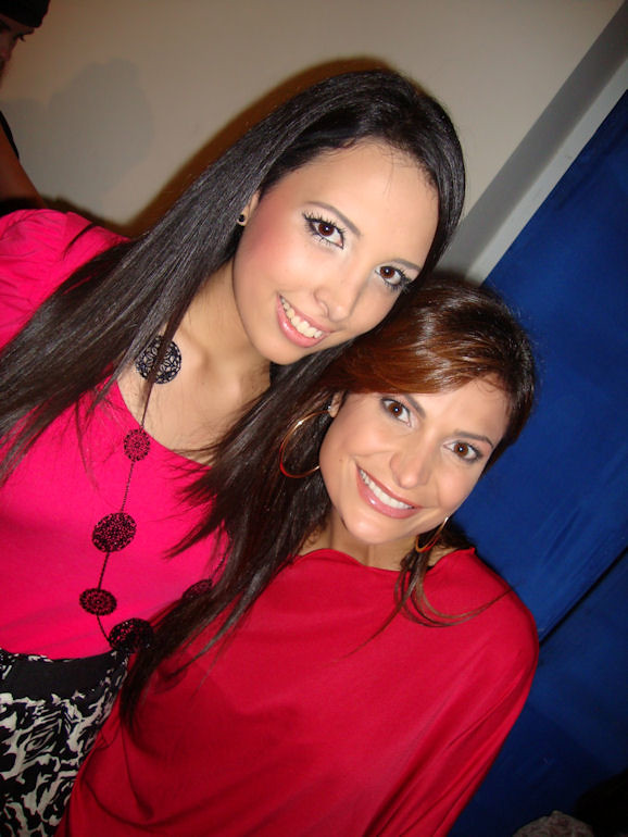 Con Caterina Valentino de E! VIP