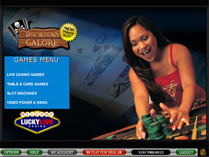Lucky Live Casino Lobby