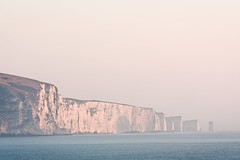 (davе) Tags: uk pink sea england sky water sunrise coast rocks europe cliffs dorset uni swanage gt40 canonef70200mmf28lis canon450d davе