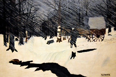 Horace Pippin - Country Doctor (Night Call), 1935 at Boston Museum of Fine Art (mbell1975) Tags: winter snow art boston museum night painting ma us mfa call gallery museu massachusetts country fine muse musee m doctor american museo mass pippin muzeum horace 1935 mze museumuseum
