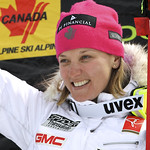Britt Janyk (CAST/WMSC) earns her 14th national title with downhill win at Canadian Championships, Nakiska 2011 PHOTO CREDIT: Michel Painchaud / S-Magazine