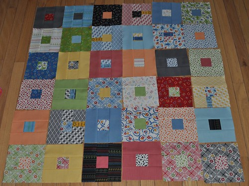 half of my jellyroll blocks