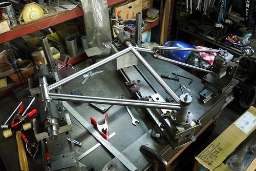 TETZ-ONE frame on preparation for welding.