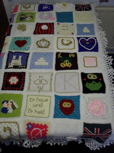 Right side of the Blanket.
