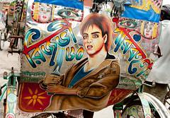 Sword-Carrying Bollywood Rickshaw Art - Rajshahi, Bangladesh (uncorneredmarket) Tags: transport bollywood rickshaw bangladesh rickshawart rajshahi