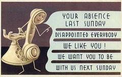 We Like You (Sea Moon) Tags: mail notice postcard invitation reminder comeback sundayschool