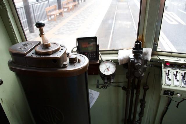 岡山電気軌道3000形運転台