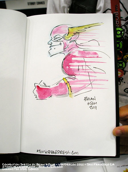 wondercon 2011 sketchbook drawing - Flash
