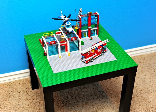 IKEA Lack Side Table Turned Lego Table