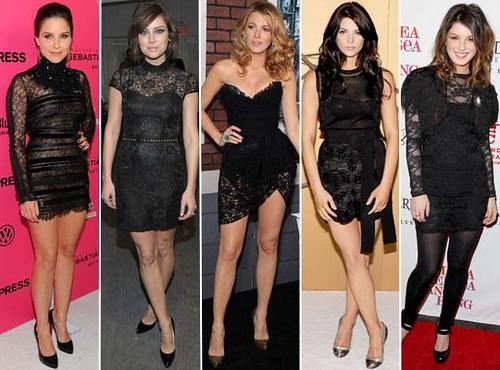vestidos renda 2011