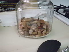Jar with rocks