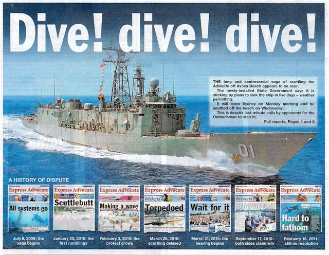 ex-HMAS Adelaide Dive Dive Dive