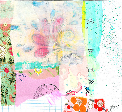 Collage: Bursting flower
