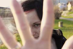 Stop no more photos 3 (peter pirker) Tags: portrait woman girl canon austria österreich hand kärnten carinthia frau dame mädchen villach peterfoto eos550d