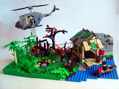 This is 'Nam baby! (Eturior) Tags: lego contest vietnam huey decals brickarms eturior