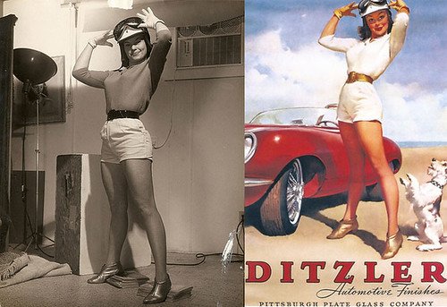 Pin-up Girl Before/After