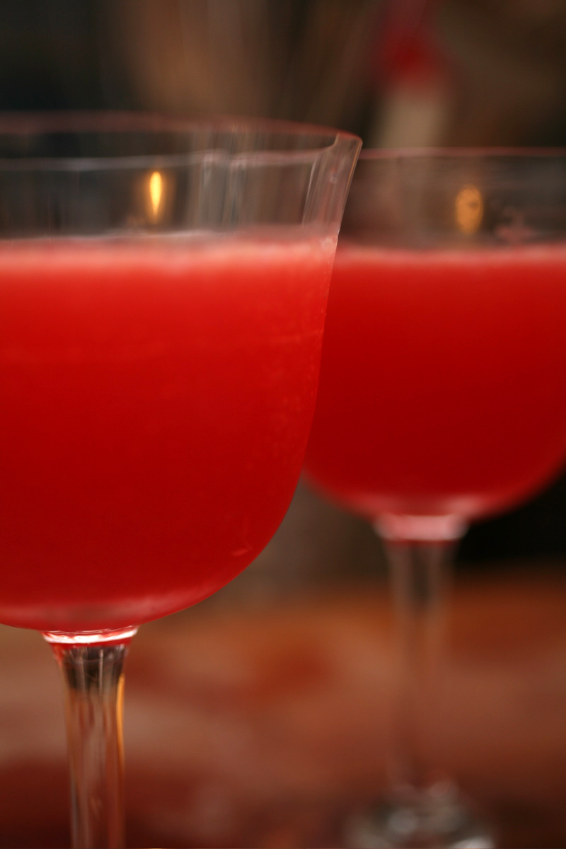 blood orange rum punch