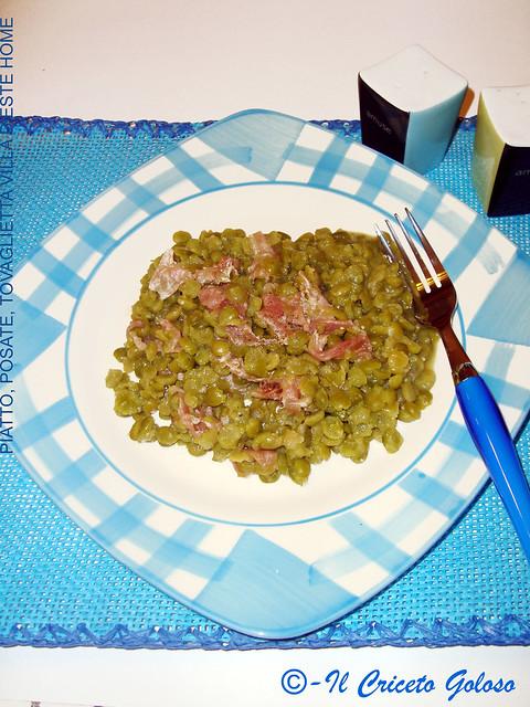 Piselli verdi spezzati con speck 2