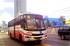 Santrans 5655 (bhettina limchu) Tags: b bus mrt fare ordinary edsa boni 5655 santrans