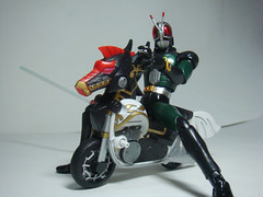 Kamen Rider! (ChrisExe) Tags: black sd sh rider rx kamen ryofu sangokuden figuarts