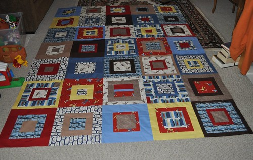 goodnight monkey quilt top
