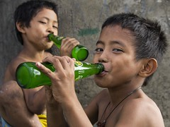 Ulingan, Tondo - Soda drink that I like (Mio Cade) Tags: boy mountain children kid lemon factory child drink philippines lemonade charcoal manila smokey soda ulingan