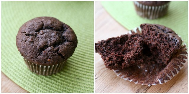 Vegan Chocolate Banana Muffins collage 1