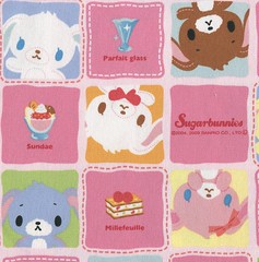 Sugarbunnies (This and That From Japan) Tags: cute rabbit bunny bunnies cake japanese pretty sewing craft hobby sugar sanrio fabric cotton kawaii sweets material cloth sugarbunnies japanimport