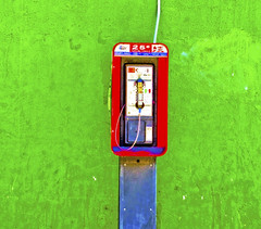 E.T. Phone Home (twbphotos) Tags: green downtown texas phone payphone elpaso terrybell twbphotos southelpaso