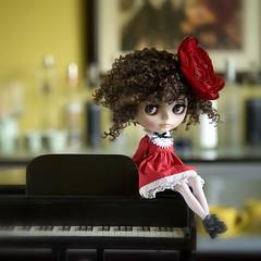 At the piano bar