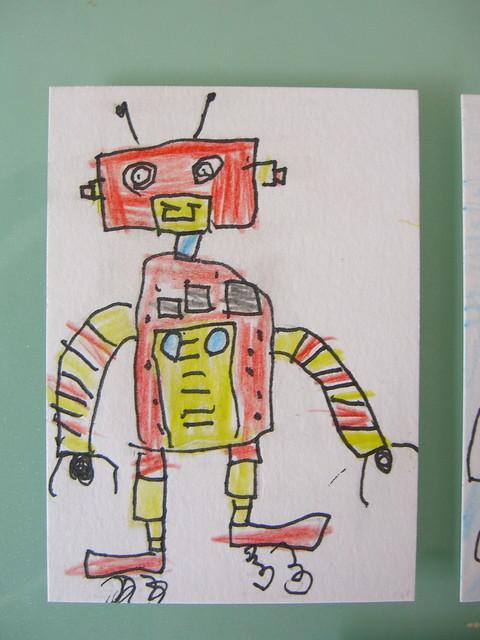 Wierdbot by Luca (age 6)