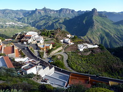 Gran Canaria - Roque Nublo & Roque Bentayga Seen from Artenara