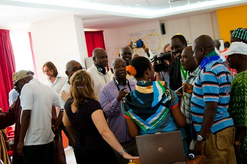 Lots of interaction and discussion during the FSCA workshop in Dakar