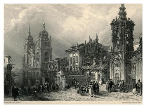 013-Calle de San Bernardo e iglesia del Noviciado de los jesuitas- The tourist in Spain (1837)-Roberts David