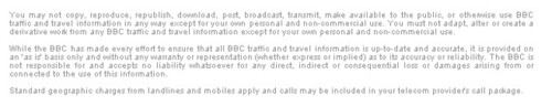 Ts&Cs for BBC Travel info